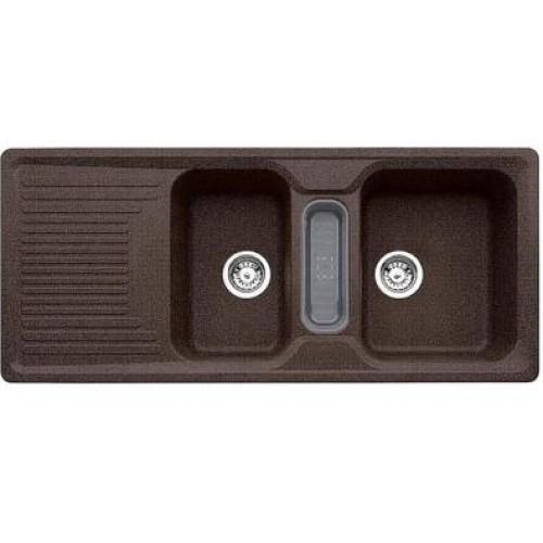 BLANCO Classic 8 S dřez včetně sifonu, příslušenství-šedé, kávová 514995