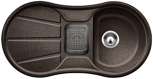 BLANCO Cron 6 S dřez s excentrem, příslušenství-šedé, kávová 515031