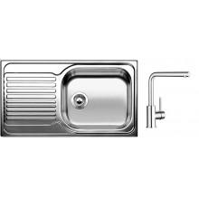 BLANCO Set dřez TIPO XL 6 S nerez + baterie MILA chrom