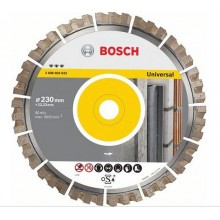 BOSCH Best for Universal Diamantový dělicí kotouč, 230 x 22,33 x 2,4 x 15 mm 2608603633
