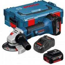 BOSCH GWS 18-125 V-LI akumulátorová úhlová bruska, 2 x 5,0Ah L-Boxx, 060193A30L