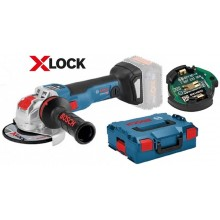 BOSCH GWX 18V-10 SC Professional Aku úhlová bruska s X-LOCK, 125 mm, bez aku 06017B0400