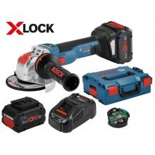 BOSCH GWX 18V-10 SC Professional Aku úhlová bruska 2x 18V 8.0Ah, s X-LOCK, 125mm 0.601.7B0.401