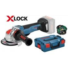 BOSCH GWX 18V-10 PSC Professional Aku úhlová bruska s X-LOCK, 125mm, bez aku 06017B0800