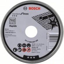 BOSCH Standard for Inox Rapido Dělicí kotouč rovný, 115x1mm 2.608.603.254