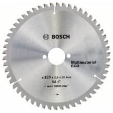 BOSCH Pilový kotouč Multi Material ECO 190 x 30 x 2,2/1,6 mm, 54 zubů 2.608.644.389