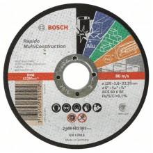 BOSCH Dělicí kotouč rovný Rapido Multi Construction 125x1,6mm 2608602383