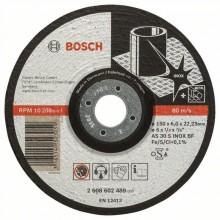 BOSCH Hrubovací kotouč profilovaný Expert for Inox, 150 mm 2608602489