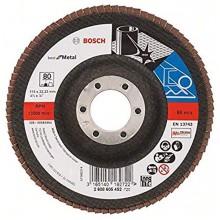 BOSCH Best for Metal Lamelový brusný kotouč X571, 115 mm, 22,23, 80, 2608605452