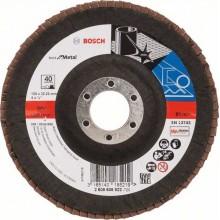 BOSCH Best for Metal Lamelový brusný kotouč X571, 125 mm, 22,23, 40, 2608606922