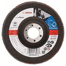BOSCH Best for Metal Lamelový brusný kotouč X571, 125 mm, 22,23, 80, 2608606924