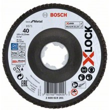 BOSCH X-LOCK Best for Metal Lamelový brusný kotouč X571, 125x22,23mm, G40 2608619201