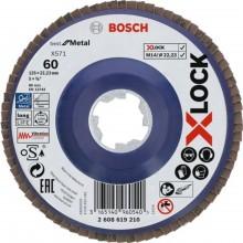 BOSCH Best for Metal systému X-LOCK, Lamelový brusný kotouč, 125 mm, G 60 2608619210