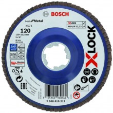 BOSCH X-LOCK Best for Metal Lamelový brusný kotouč X571, 125x22,23mm, G120 2608619212