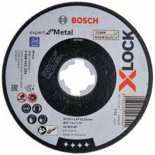 BOSCH Expert for Metal systému X-LOCK, Plochý řezný kotouč, 125×1,6×22,23mm 2608619254