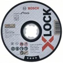 BOSCH Expert for Inox systému X-LOCK, Plochý řezný kotouč 125×1,6×22,23 mm 2608619265