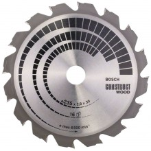 BOSCH Pilový kotouč Construct Wood, 235x2,8/1,8 mm 2608640636
