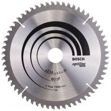 BOSCH Pilový kotouč Optiline Wood, 216x2,0/1,4 mm 2.608.640.433