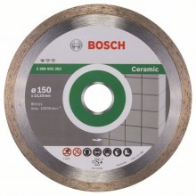 BOSCH Standard for Ceramic Diamantový dělicí kotouč, 150 x 22,23 x 1,6 x 7mm 2608602203