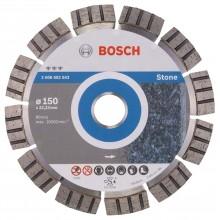 BOSCH Best for Stone Diamantový dělicí kotouč, 150 x 22,23 x 2,4 x 12 mm 2608602643