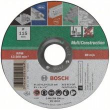 BOSCH Dělicí kotouč rovný 115x1 mm, Multi Construction 2609256306