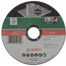 BOSCH Dělicí kotouč rovný, nerezová ocel (Inox), 125x1mm 2609256322