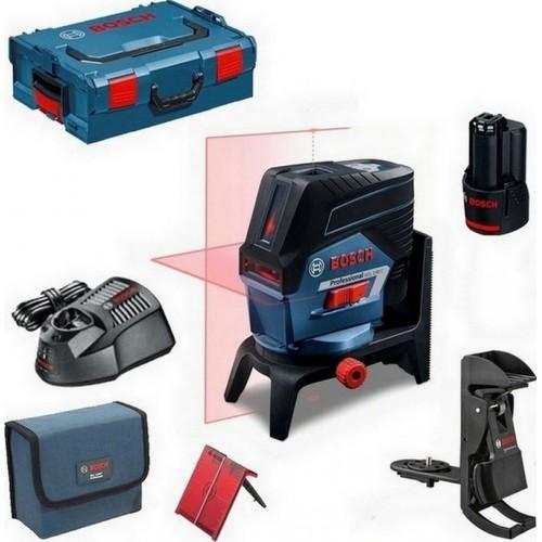 BOSCH GCL 2-50 C křížový laser + BM 3 + RM 2 + 1 x aku 2,0 Ah + L-Boxx 0.601.066.G03
