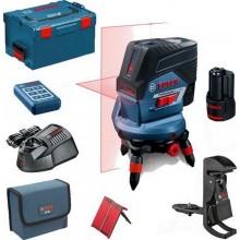 BOSCH GCL 2-50 C křížový laser + RM 3 + BM 3 + RC 2 + 1 x aku + L-Boxx 0.601.066.G04