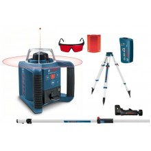 BOSCH GRL 250 HV Rotační laser + BT 170 HD stativ + GR 240 nivelační lať 0601061600