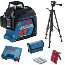 BOSCH GLL 3-80 Professional křížový laser + 4x 1,5 V AA + stativ BT 150 + kufr + taška 0.615.994.0KD