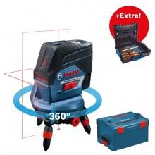 BOSCH GCL 2-50 C křížový laser + RM3 otočný držák + L-BOXX 0.615.994.0KG + EXTRA sada nářadí GEDORE