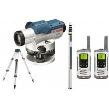 BOSCH GOL 32 D Professional Optický nivelační přístroj + sada vysílaček Motorola 0.615.994.0AX