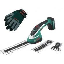 BOSCH ASB 10.8 LI nůžky na trávu a keře + BOSCH rukavice vel. L Zdarma 0.600.856.305