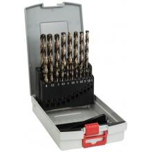 BOSCH 19dílná sada vrtáků do kovu ProBox HSS-Co, DIN 338 (legované kobaltem) 2608587014