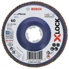 BOSCH X-LOCK Best for Metal Lamelový brusný kotouč X571, 115x22,23mm, G80, 2608619207