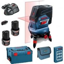 BOSCH GCL 2-50 C křížový laser + RM3 + 2 x GBA 12V 2,0Ah + USB adaptér 0.615.994.0K7