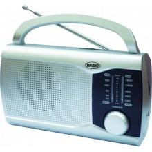 BRAVO B-6009 přenosné rádio stříbrné 10210000