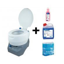 CAMPINGAZ Chemická toaleta Portable 20 L Combo + desinfekce a toaletní papír