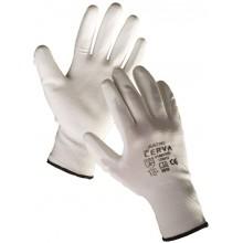 ČERVA BUNTING Ochranné rukavice nylonové, PU dlaň, vel. XL