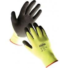 ČERVA PALAWAN Ochranné povrstvené rukavice nylonové, latex dlaň, vel. 9
