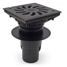 Kanalizační vpusť spodní D 110/250 (KVS110/250S-Li+z) suchá litina+zámek 331z