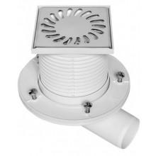 Podlahová vpusť boční DN 50 (PVB50N-PR1) 100 x 100 mm s přírubou 411