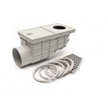 Kanalizační vpusť boční D 110 (KV110B-s) šedá 325Ds
