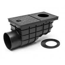 Kanalizační vpusť boční D 110 (KV110BST) STANDARD černá 325G