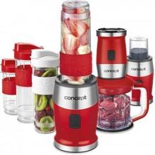 CONCEPT SM3391 FRESH&NUTRI Smoothie mixér, chopper,mlýnek, 700W + láhve 2 x 570ml + 400ml, červená sm3392
