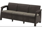 ALLIBERT CORFU LOVE Seat max pohovka, hnědá/šedo-béžová 17197959