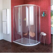 POLYSAN LUCIS LINE čtvrtkruhová sprchová zástěna 1200x900mm, levá