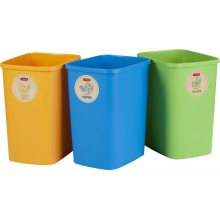 CURVER ECO Friendly 3x25L Set košů na tříděný odpad (modrá, zelená, žlutá) 02174-999