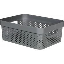 CURVER INFINITY 4,5L Úložný box 26 x 18 x 12 cm, recyklovaný plast, tmavě šedý 04747-G43