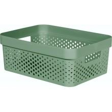 CURVER INFINITY 11L Úložný box 36 x 27 x 14 cm, recyklovaný plast, zelený 04750-S86